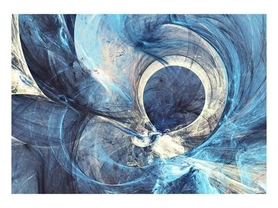 Abstract Bright Painting Motion Composition. Modern Futuristic Dynamic Background. Blue Color Artis