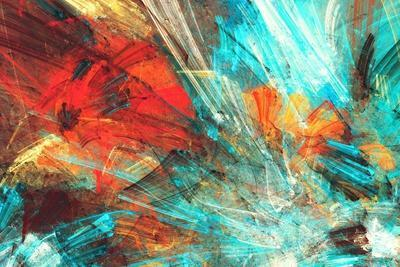 Bright Artistic Splashes. Abstract Painting Color Texture. Modern Futuristic Pattern. Multicolor Dy