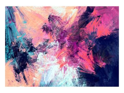 Bright Color Fireworks. Abstract Painting Color Texture. Artistic Motion Holiday Background. Modern