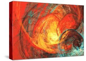 Flaming Sun. Abstract Painting Texture in Summer Color. Modern Futuristic Red Pattern. Bright Color by Excellent backgrounds