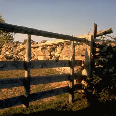 Excellent Detail of a Fieldstone Fence, a Good Example of Early American Masonry-Walker Evans-Photographic Print