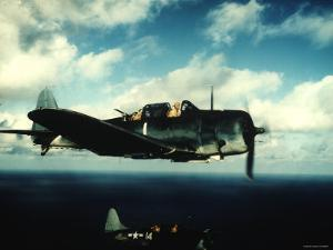 """Excellent in Flight of US Navy Douglas Sbd """"Dauntless"""" Torpedo Dive Bomber"""