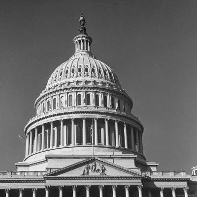 Excellent Monumental View of the Capitol Building and Dome, Showing the Central Section-Walker Evans-Photographic Print