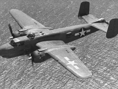 Excellent of a B-25 Mitchell Bomber in Flight--Photographic Print