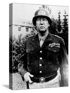 Excellent of Us Four Star Gen. George S. Patton Jr. in Uniform and Helmet