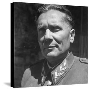 Excellent Portrait of Josip Broz, Aka Marshal Tito, Leader of the Yugoslavia Resistance at His Hq