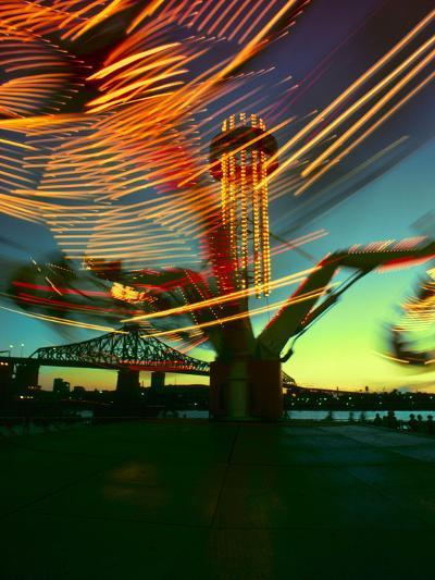 Exciting Blurred Lights from the Carnival--Photographic Print