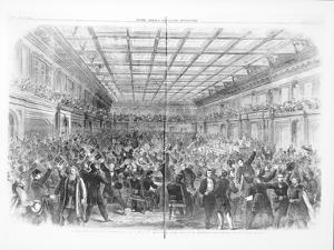Exciting Scene in the House of Representatives, January 31st 1865
