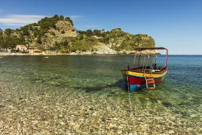 Excursion Boat Moored on Pretty Isola Bella Bay in This Popular Northeast Tourist Town-Rob Francis-Photographic Print