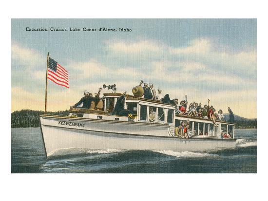 Excursion Cruiser, Lake Coeur d'Alene, Idaho--Art Print