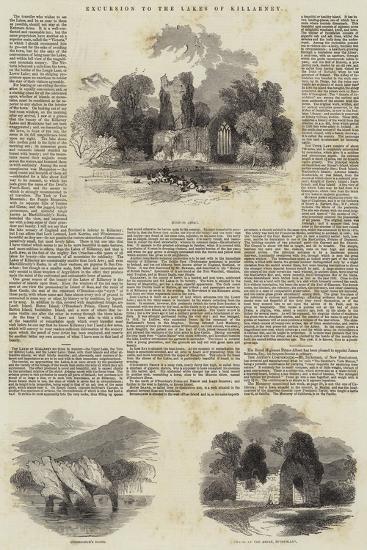 Excursion to the Lakes of Killarney--Giclee Print