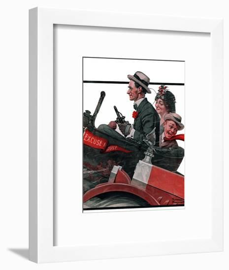 """""""Excuse My Dust"""", July 31,1920-Norman Rockwell-Framed Premium Giclee Print"""