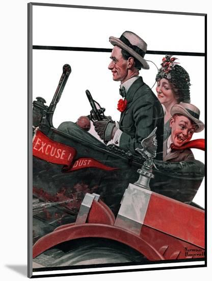 """""""Excuse My Dust"""", July 31,1920-Norman Rockwell-Mounted Giclee Print"""