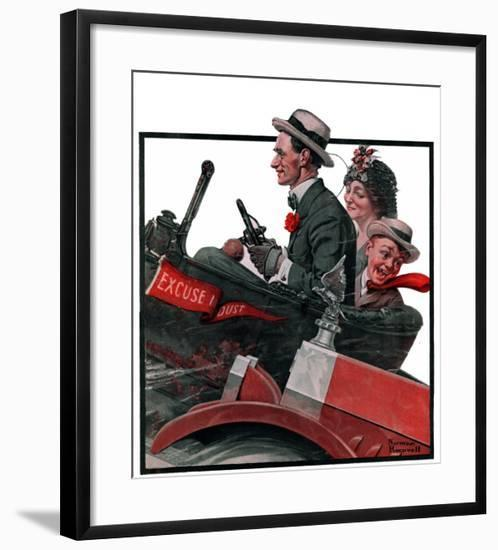 """""""Excuse My Dust"""", July 31,1920-Norman Rockwell-Framed Giclee Print"""