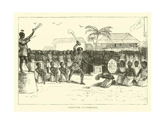 Execution in Coomassie--Giclee Print
