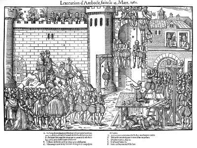 Execution of Conspirators at Amboise, French Religious Wars, March 1560-Jacques Tortorel-Giclee Print