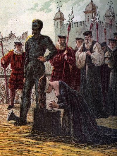 Execution of Lady Jane Grey, 1554--Giclee Print