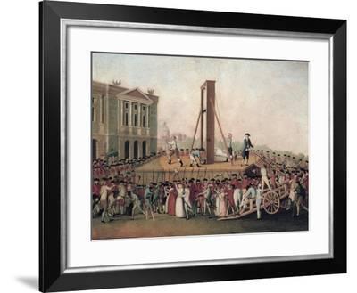 Execution of Marie Antoinette--Framed Art Print