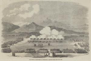 Execution of Mutineers at Peshawur, Blowing from the Guns Etc