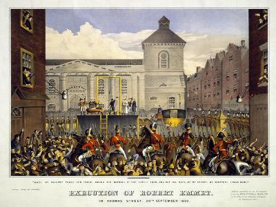 Execution of Robert Emmet in Thomas Street, 20th September 1803, 1803--Giclee Print