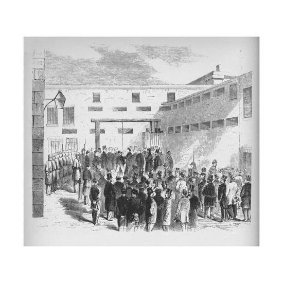 'Execution of slave trader Nathaniel Gordon in the Tombs prison in New York', 1862', (1938)-Unknown-Giclee Print