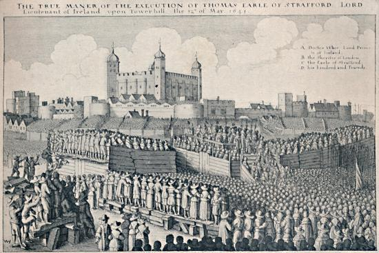 'Execution of the Earl of Strafford', c1641, (1903)-Wenceslaus Hollar-Giclee Print
