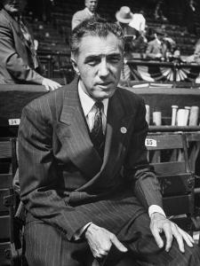 Executive Ford C. Frick, Appearing at a Baseball Game at Bb Park