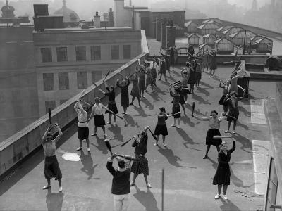 Exercise Class--Photographic Print