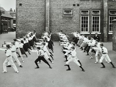 Exercise Drill, Crawford Street School, Camberwell, London, 1906--Photographic Print