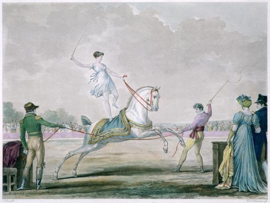 Exercises of the Circus Horse, C1818-1836-Antoine Charles Horace Vernet-Giclee Print