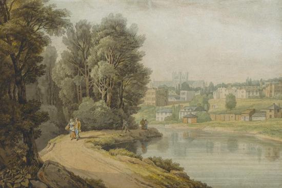 Exeter as Seen from the River, 1816-John White Abbott-Giclee Print
