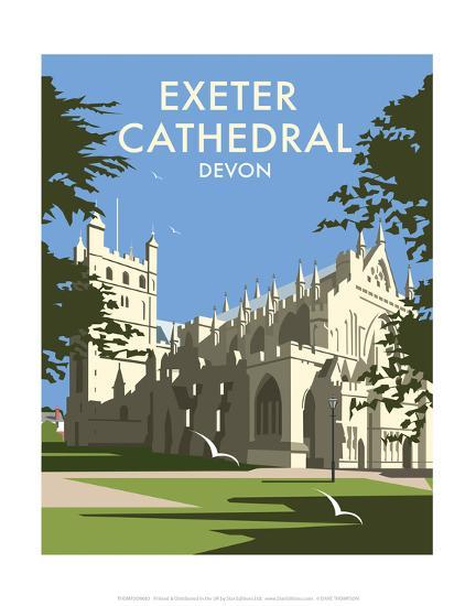 Exeter Cathedral - Dave Thompson Contemporary Travel Print-Dave Thompson-Art Print
