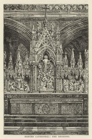Exeter Cathedral, the Reredos--Giclee Print