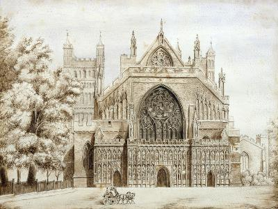 Exeter Cathedral, West Front--Giclee Print
