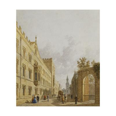 Exeter College, Oxford-George		 Pyne-Giclee Print