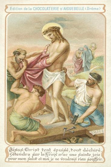 Exhausted, Jesus Prepares to Be Nailed to the Cross--Giclee Print