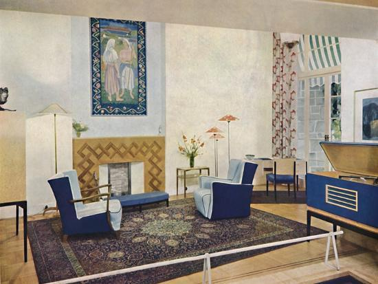 'Exhbition living-room designed by Esmé Gordon, A.R.I.B.A., A.R.I.A.S.', c1945-Unknown-Photographic Print