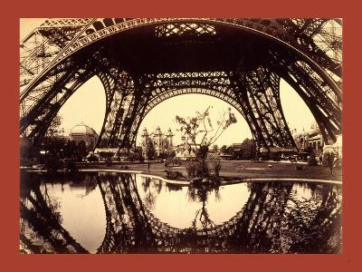 Exhibit Buildings and Grounds Seen Through the Lower Part of the Eiffel Tower--Giclee Print