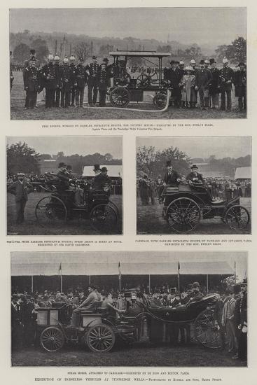 Exhibition of Horseless Vehicles at Tunbridge Wells--Giclee Print
