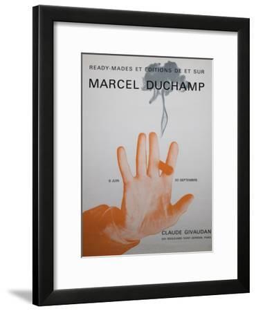 Exhibition Poster for 'Ready-Mades Et Éditions De Et Sur Marcel Duchamp'--Framed Giclee Print