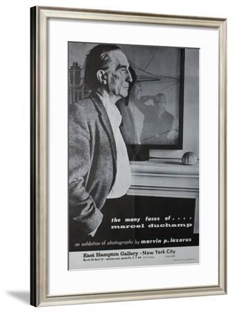 Exhibition Poster for 'The Many Faces of Marcel Duchamp'--Framed Giclee Print
