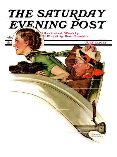 """""""Exhilaration"""" Saturday Evening Post Cover, July 13,1935-Norman Rockwell-Giclee Print"""