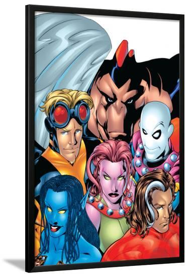 Exiles No.1 Cover: Blink, Morph, Thunderbird, Mimic, Magnus and Nocturne-Mike McKone-Lamina Framed Poster