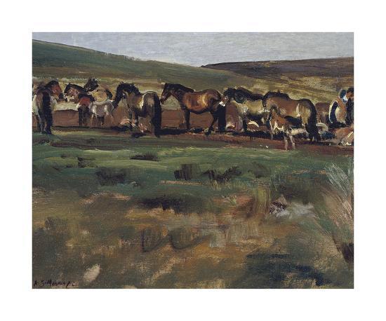 Exmoor Ponies-Sir Alfred Munnings-Premium Giclee Print
