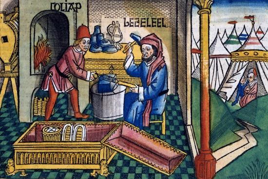 Exodus 31:2-8: Bezalel and Aholiab making the Ark of the Covenant-Unknown-Giclee Print