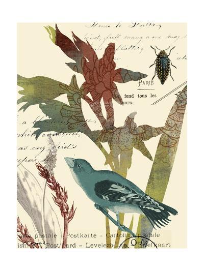 Exotic Blossom II-W^ Green-Aldridge-Art Print