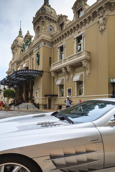 Exotic Sports Car Outside Casino De Monte-Carlo, Monaco, Europe-Amanda Hall-Photographic Print