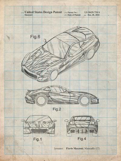 Exotic Sports Car Patent-Cole Borders-Art Print