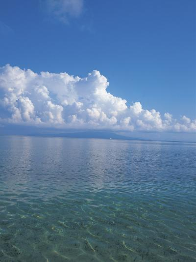 Expanse of Blue Sea Water and Sky--Photographic Print