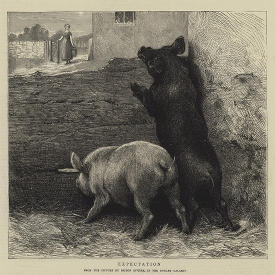Expectation-Briton Riviere-Giclee Print